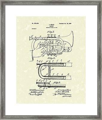 Cornet 1899 Patent Art Framed Print