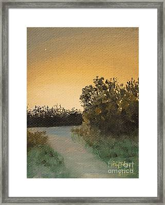 Cornfield At 530am Framed Print by Art By Tolpo Collection