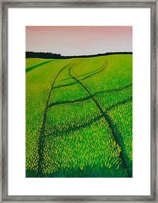 Cornfield Framed Print by Sven Fischer