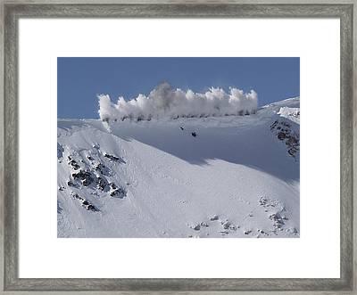 Cornice Blast Framed Print