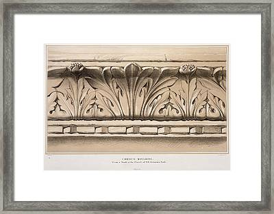 Cornice Moulding, From A Tomb Framed Print