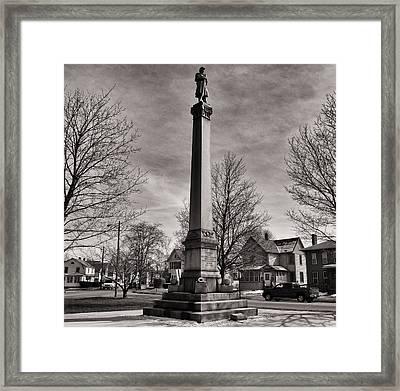 Corning Civil War Monument Framed Print