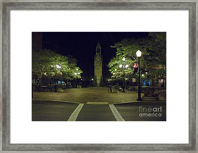 Corning Clock Tower Framed Print