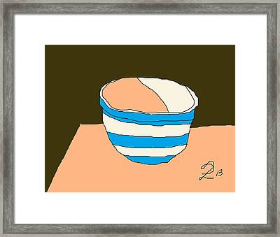 Cornish Bowl Framed Print by Anita Dale Livaditis