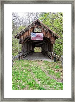 Cornish Covered Bridge Framed Print by Edward Fielding