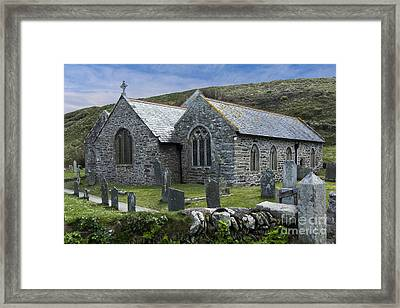Cornish Seascape St Winwaloe Church Framed Print by Brian Roscorla
