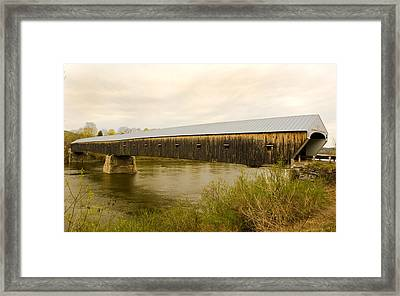 Cornish - Windsor Covered Bridge Framed Print