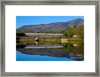 Cornish Windsor Covered Bridge Framed Print