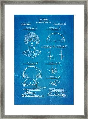 Cornish Wrinkle Remover Patent Art 1917 Blueprint Framed Print by Ian Monk