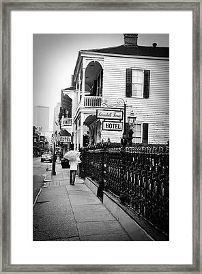Cornstalk Fence Hotel Framed Print by Todd Hartzo