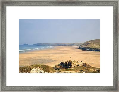 Cornwall - Ligger Bay Framed Print