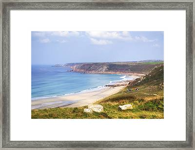 Cornwall - Sennen Cove Framed Print by Joana Kruse