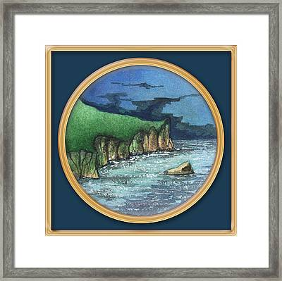Cornwall Cliffs Framed Print
