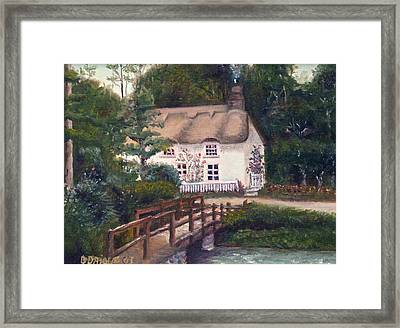 Cornwall Cottage Framed Print by Diane Daigle
