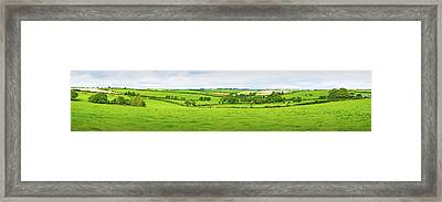 Cornwall Panorama Color Framed Print