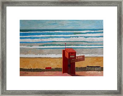 Cornwall Sennen Cove Framed Print by Lesley Giles