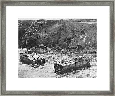 Cornwall Shipwreck Framed Print by Underwood Archives