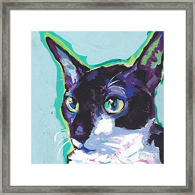 Corny Kitty Framed Print by Lea S