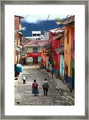 Coroico Street Scene Framed Print