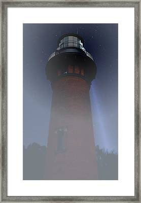 Corolla Lighthouse Framed Print