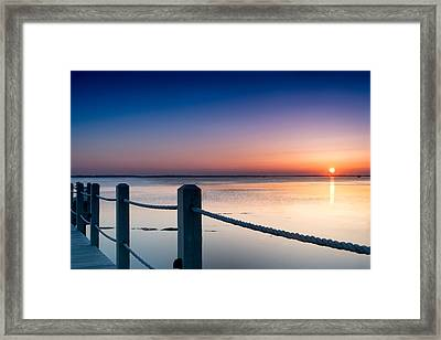 Corolla North Carolina Sunset Framed Print