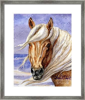Corona Band Stallion Of Sand Wash Basin Hma Framed Print