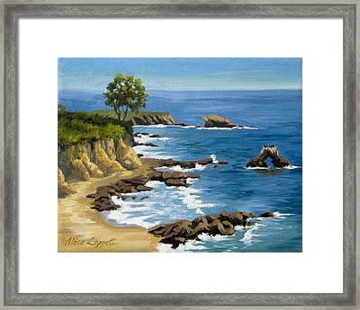 Corona Del Mar California Framed Print by Alice Leggett