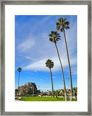 Corona Del Mar State Beach - 01 Framed Print by Gregory Dyer