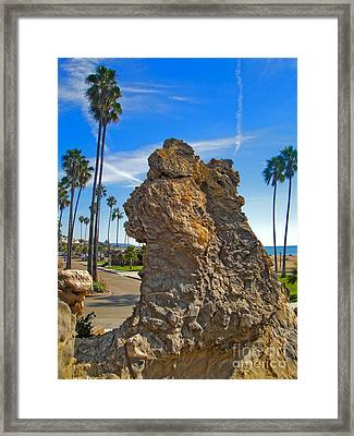Corona Del Mar State Beach - 02 Framed Print by Gregory Dyer
