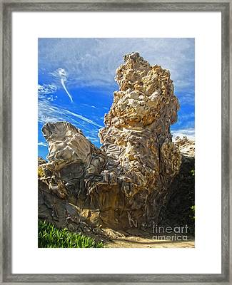 Corona Del Mar State Beach - 03 Framed Print by Gregory Dyer