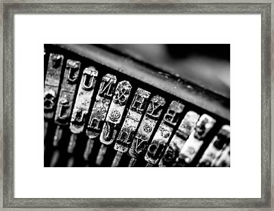 Corona Four Typewriter Detail Framed Print by Jon Woodhams