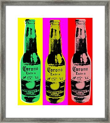 Corona Beer Framed Print by Jean luc Comperat