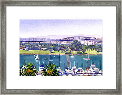 Coronado Bay Bridge Framed Print