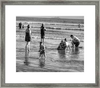Coronado Beach Tourist Framed Print