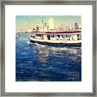 Coronado Ferry Framed Print