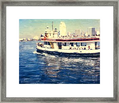 Coronado Ferry - Horz. Framed Print
