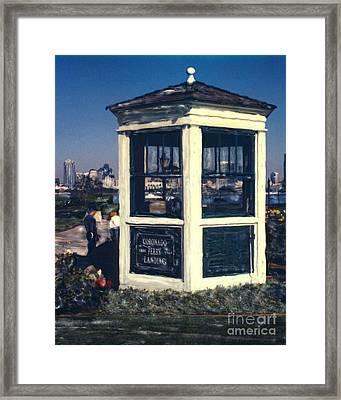Coronado Ferry Landing Booth Framed Print