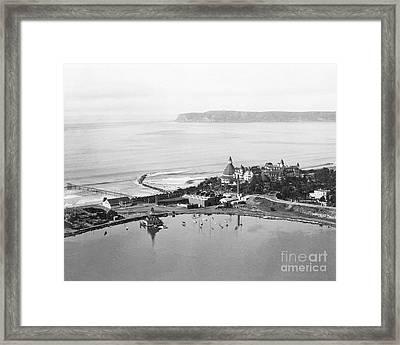Coronado From Above 1920's Framed Print