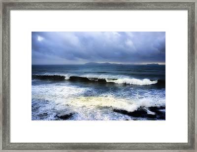 Coronado Islands In Storm Framed Print by Hugh Smith