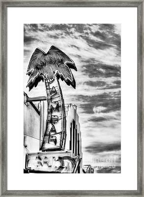Coronado Neon Dreams Bw Framed Print by Mel Steinhauer