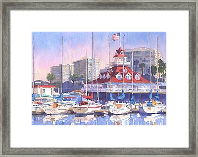 Coronado Shores Framed Print by Mary Helmreich