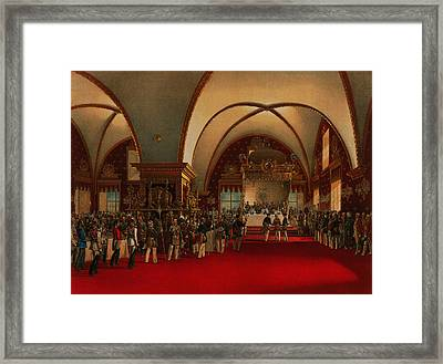 Framed Print featuring the digital art Coronation Banquet by Vasily Timm