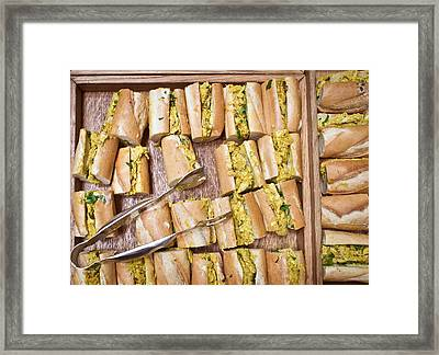 Coronation Chicken Baguettes Framed Print by Tom Gowanlock