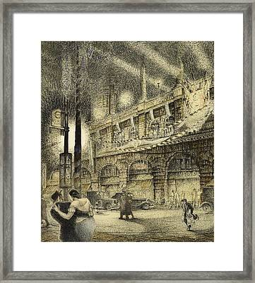 Coronation Evening London 1937 Framed Print