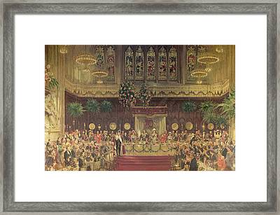 Coronation Luncheon For King George V And Queen Mary In Guildhall, 29th June 1911, 1914-22 Oil Framed Print