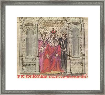 Coronation Of Henry I Framed Print