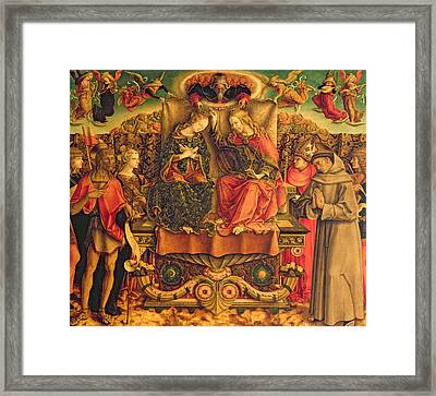Coronation Of The Virgin Framed Print