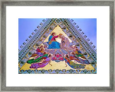 Coronation Of The Virgin Framed Print by Nigel Fletcher-Jones