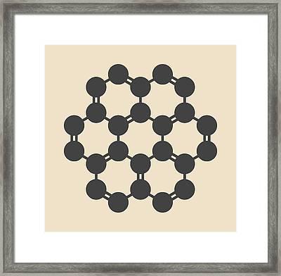 Coronene Hydrocarbon Molecule Framed Print by Molekuul