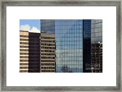 Framed Print featuring the photograph Coroporate Rise by Gina Savage